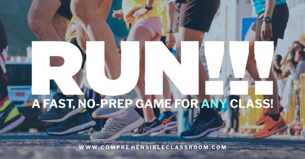 RUN is a no-prep game that gets students up and moving--and it works in ANY content area!