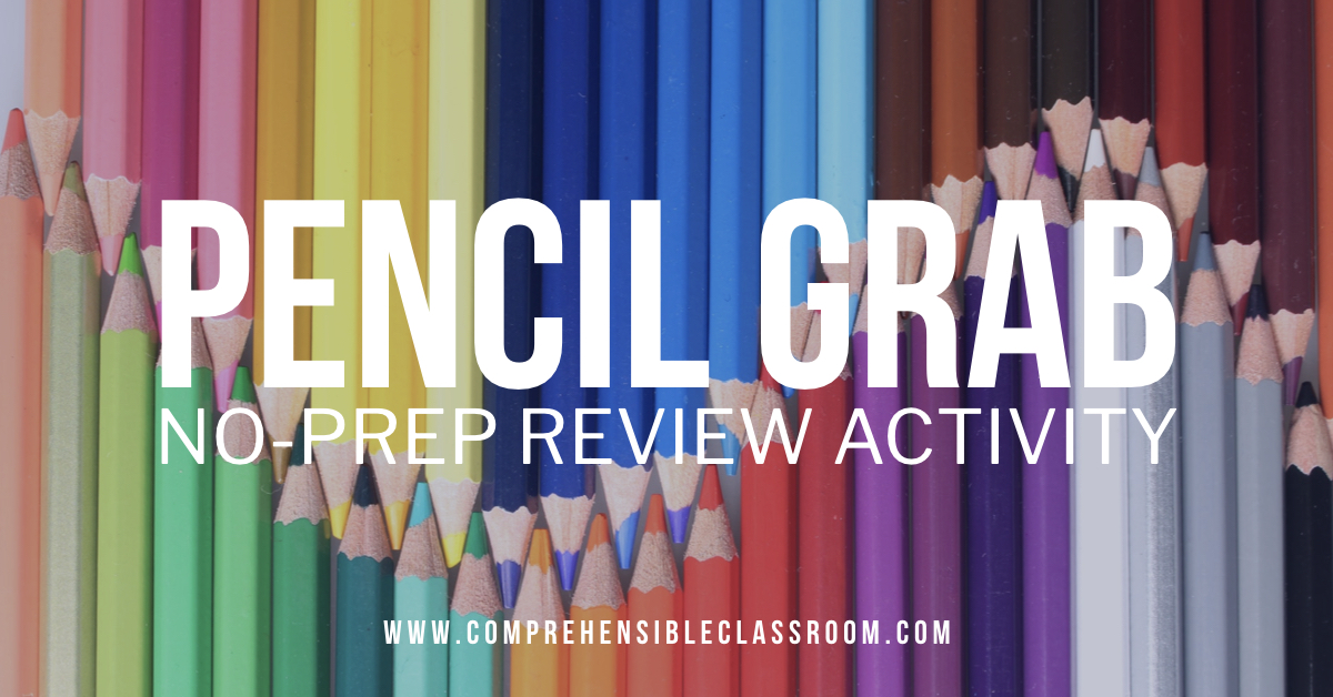 Pencil Grab is a non-prep review activity that can be adapted for any content, any subject area!