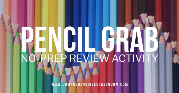 Pencil Grab is a no-prep review activity that can be adapted for any content, any subject area!