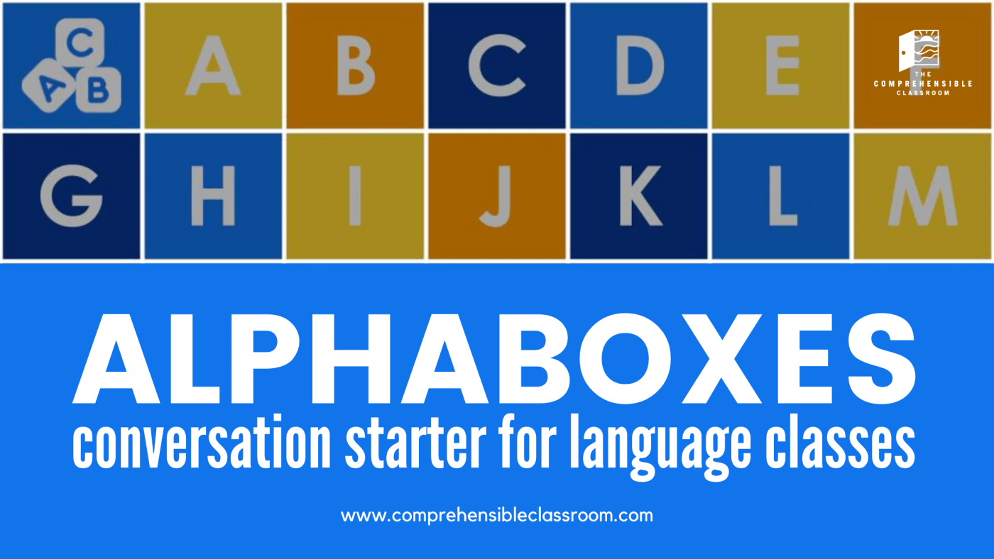 Alphaboxes discussion activity for language classes