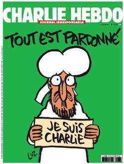 Couverture Charlie Hebdo tout est pardonné