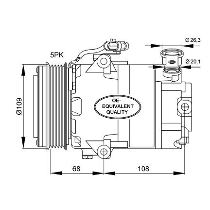 Compresor de aire acondicionado para Opel Astra, Corsa