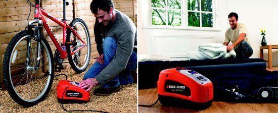 compresor Black and Decker ASI300 ruedas bicicleta