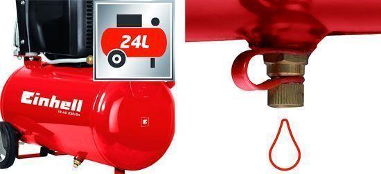Einhell TE-AC 230/24 purga y tanque de 24 litros