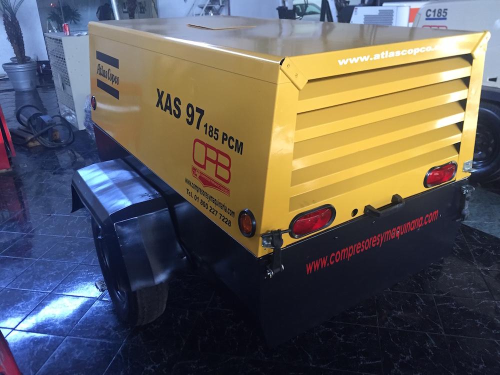 Compresores 185 pcm Atlas copco modelo XAS 97 4