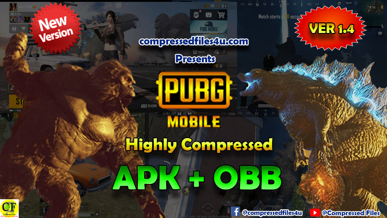 PUBG Mobile 1.4 Highly Compressed