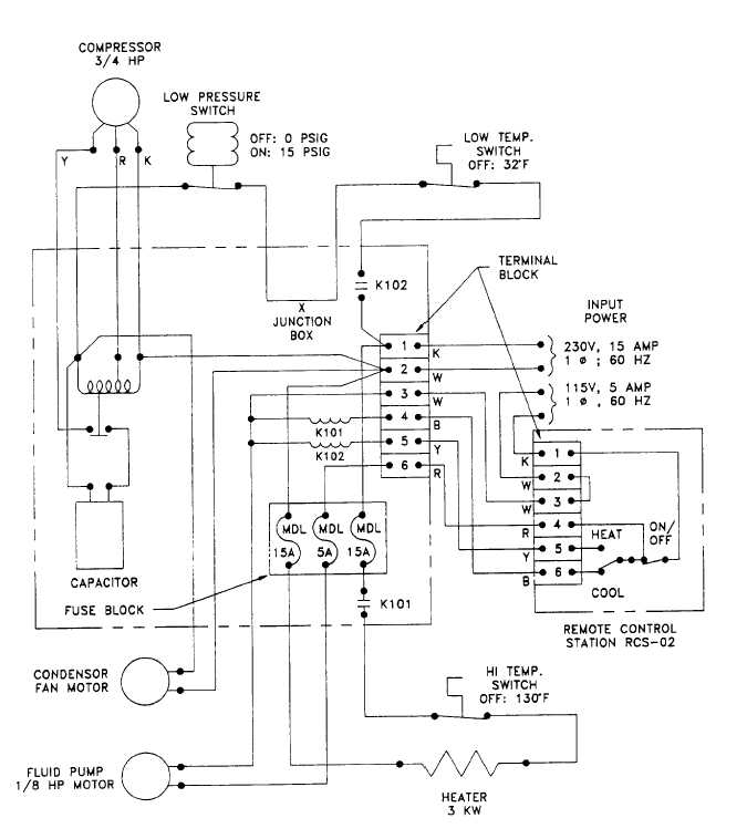 Figure 6-17. Heater/Chiller Module Electrical Schematic