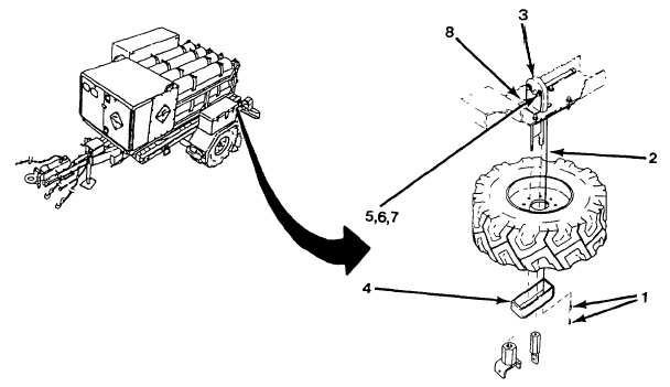 SPARE TIRE WINCH ASSEMBLY