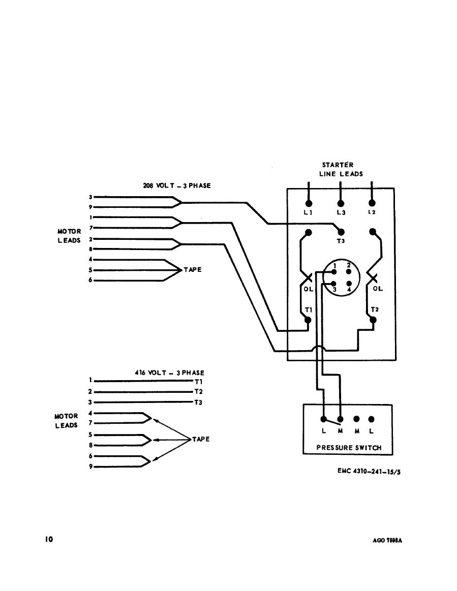 Figure 5. Wiring diagram (Model OEH-34-60-ENG-1).