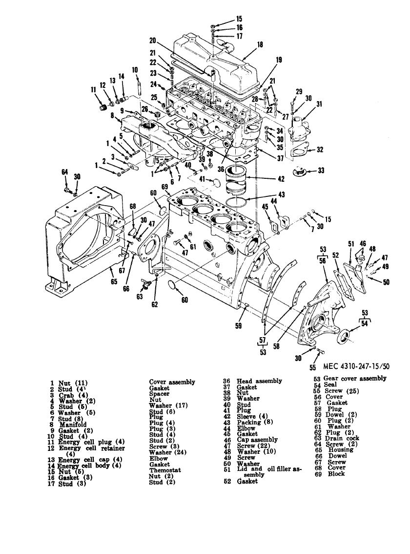 Cylinder Engine Parts Exploded View Diagram Car Pictures