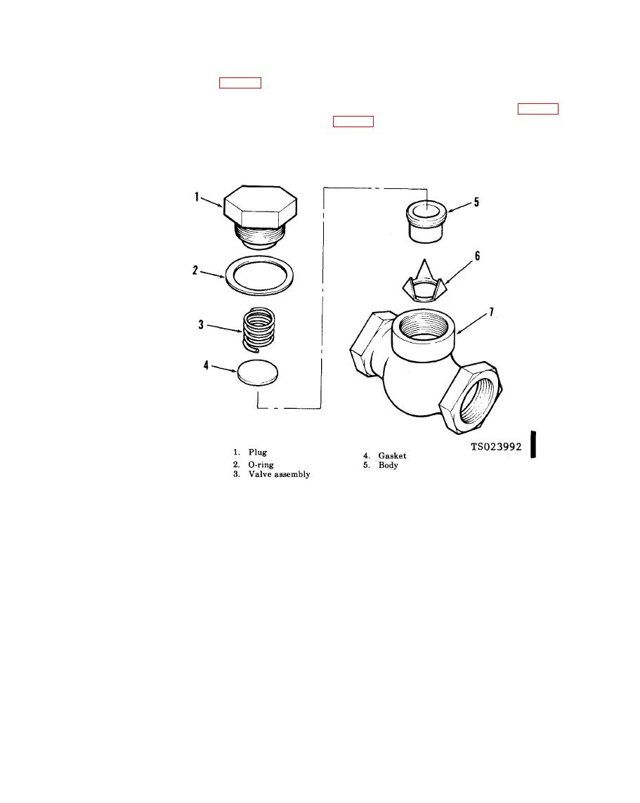 Figure 4-27.1. Check valve, exploded view.