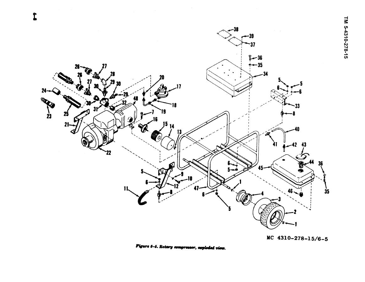 Figure 6 5 Rotary Compressor Exploded View