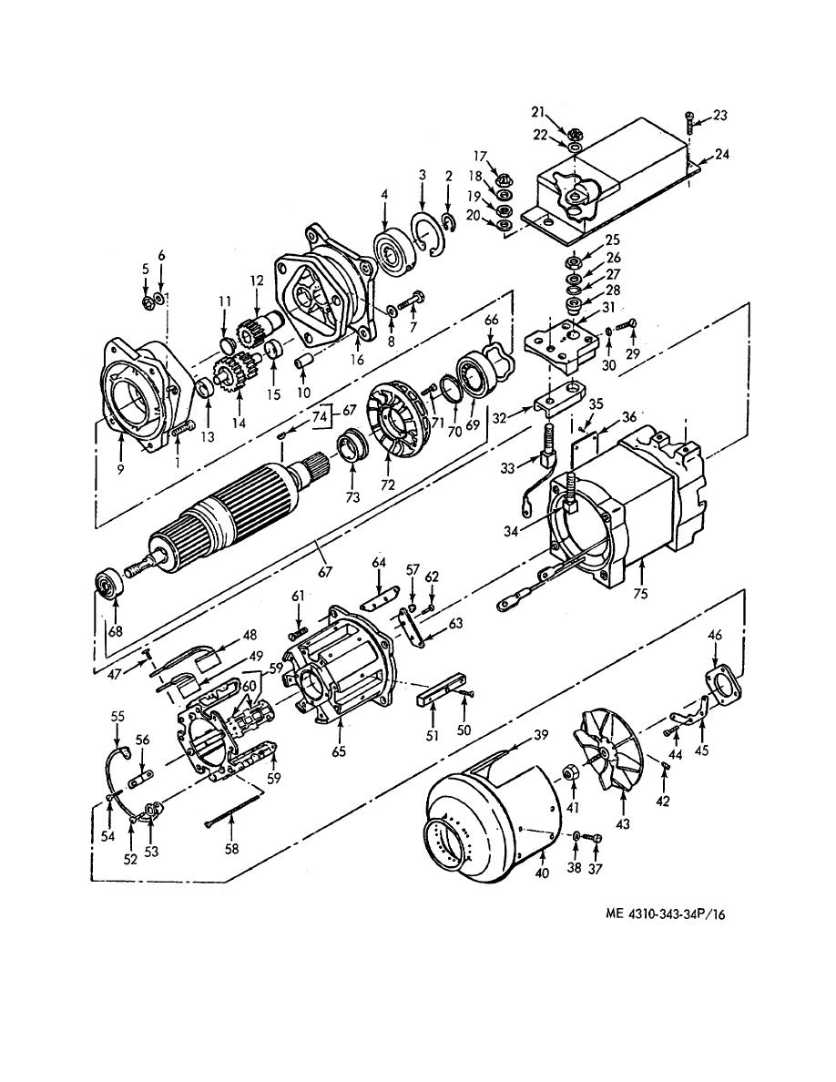 Figure 16. Electric Motor Components (A)