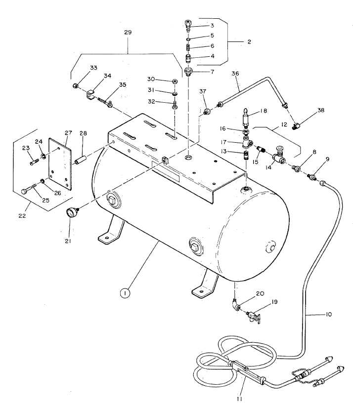 Figure 12. Receiver, Check Valve, Service and Drain