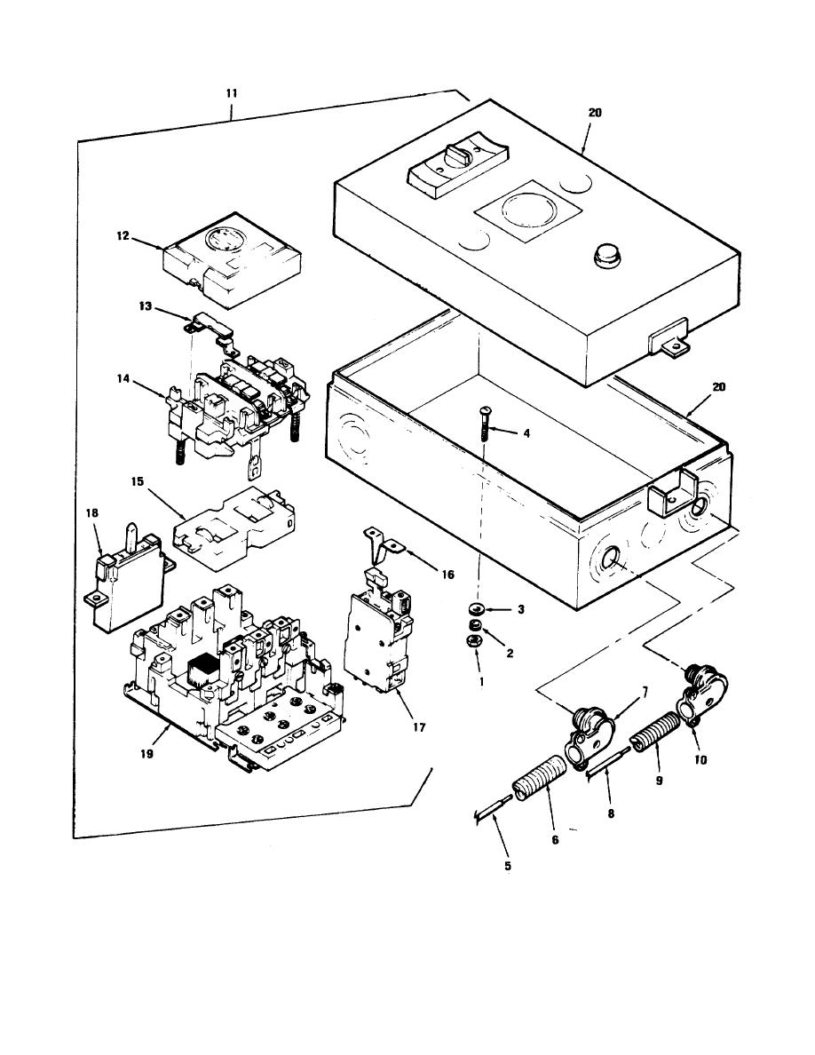 Figure C-6. Starter assembly, exploded view. (Champion