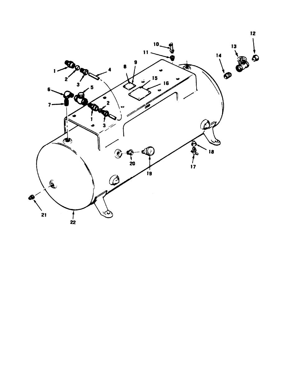 Figure C-10. Air receiver tank and related parts