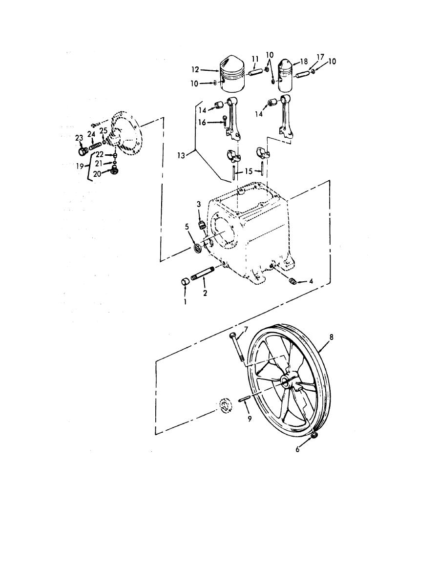Figure 9. Air Compressor Piston and Rod Assembly.
