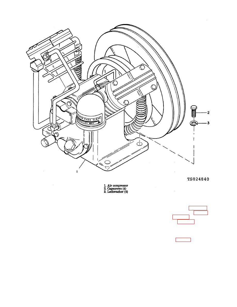 Figure 4-1. Air compressor. removal and installation.