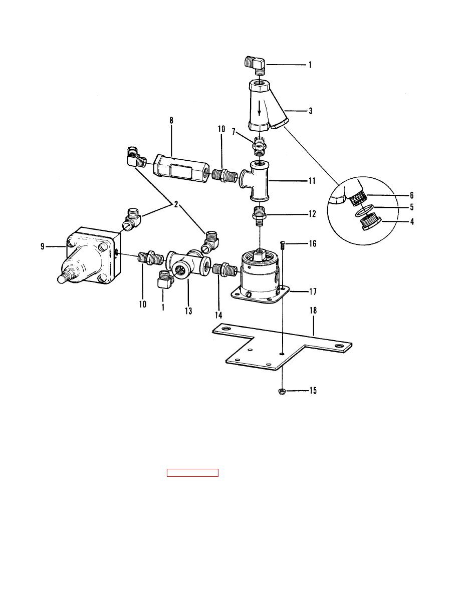 Figure 6-4. Blowdown valve assembly, disassembly and