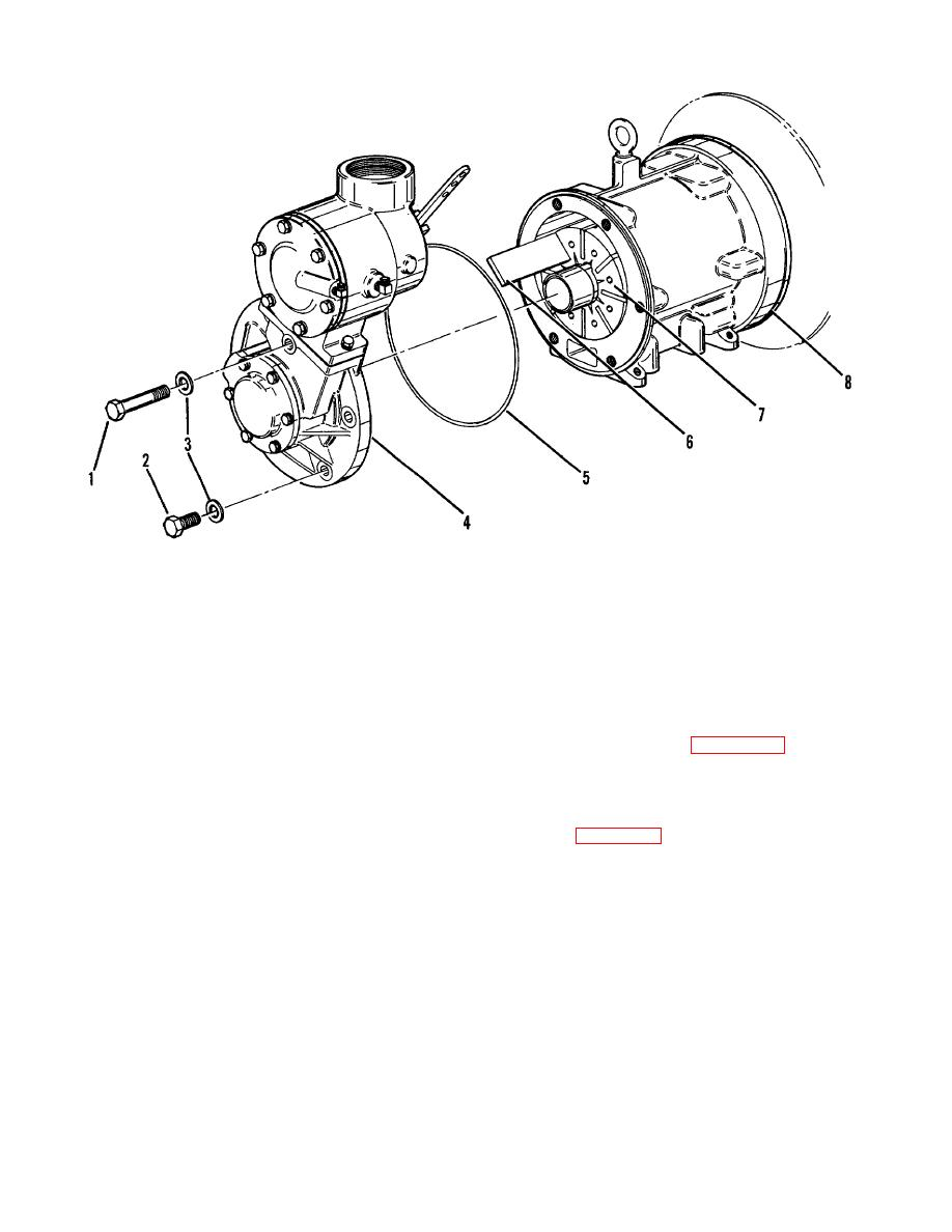 Figure 6-10. Compressor non-drive end, disassembly, blade