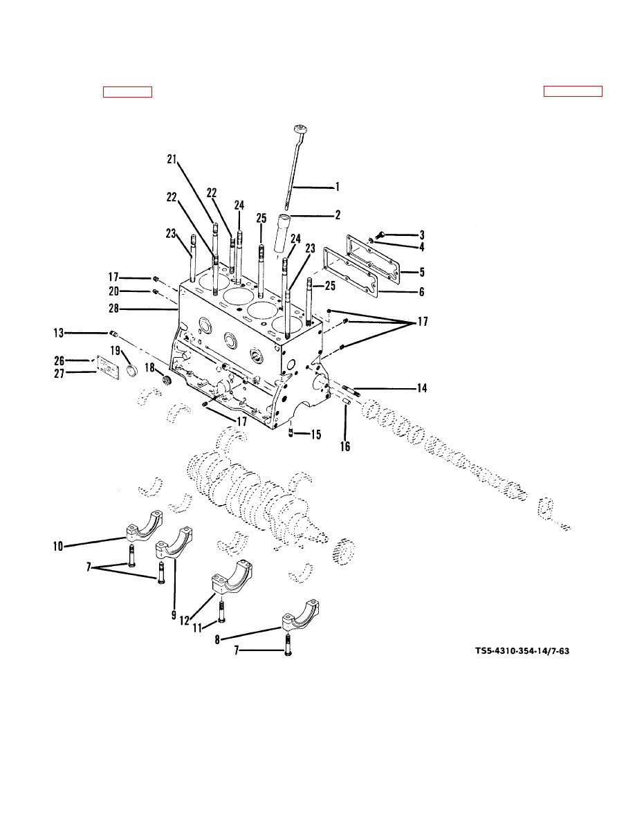 Figure 7-63. Cylinder block, disassembly and reassembly.