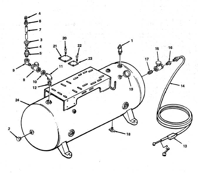 Figure 8. Air Receiver Tank and Parts