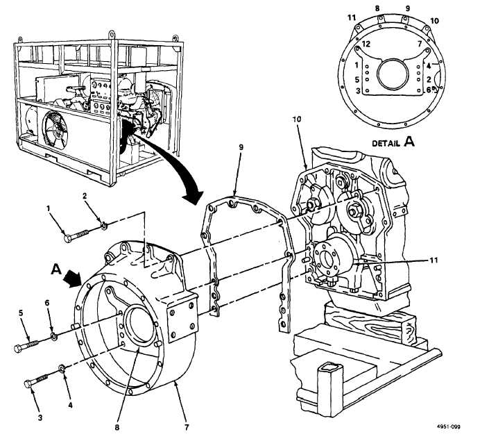 Figure 4-20. Flywheel Housing, Replace
