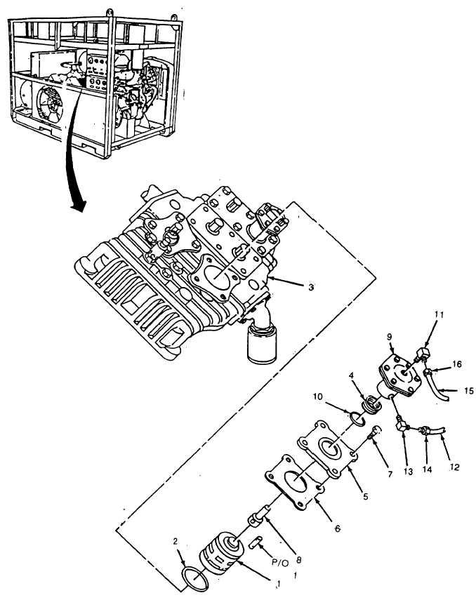 Figure 5-38. Compressor Unloader Assembly with 4 Bolt