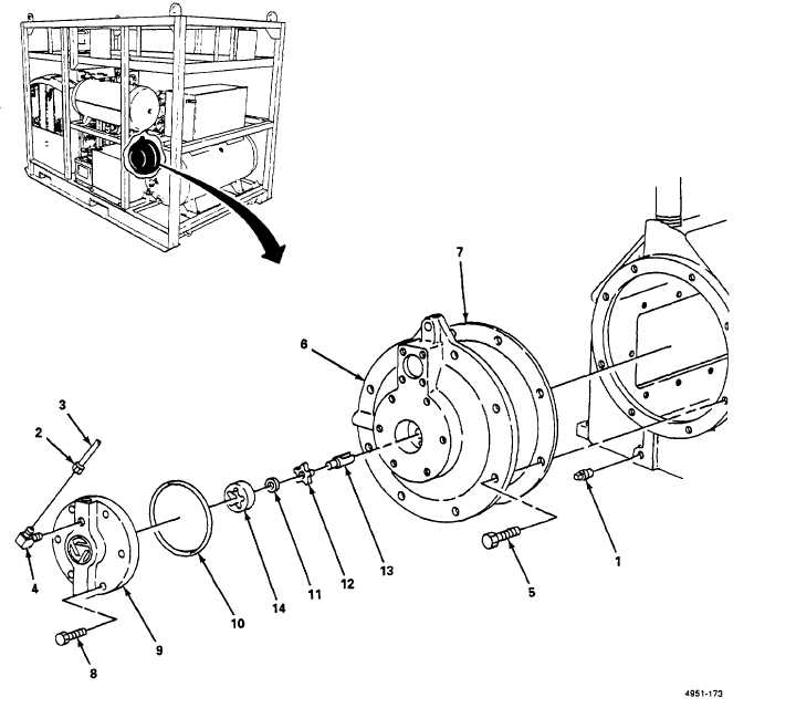 Figure 5-53. Compressor Bearing Carrier and Oil Pump, Replace.