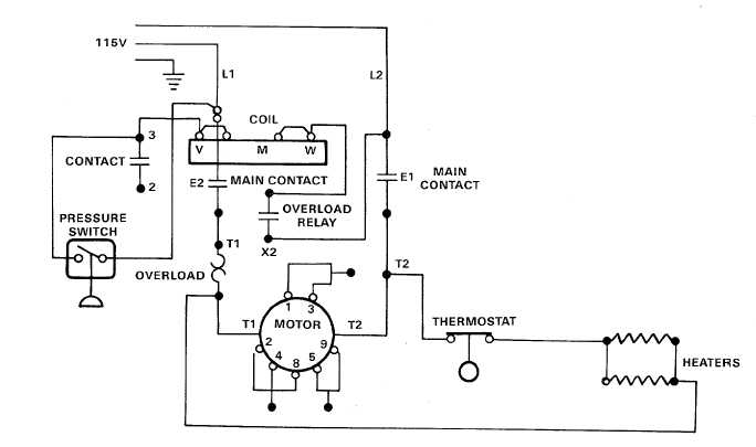 3 phase air compressor wiring schematic