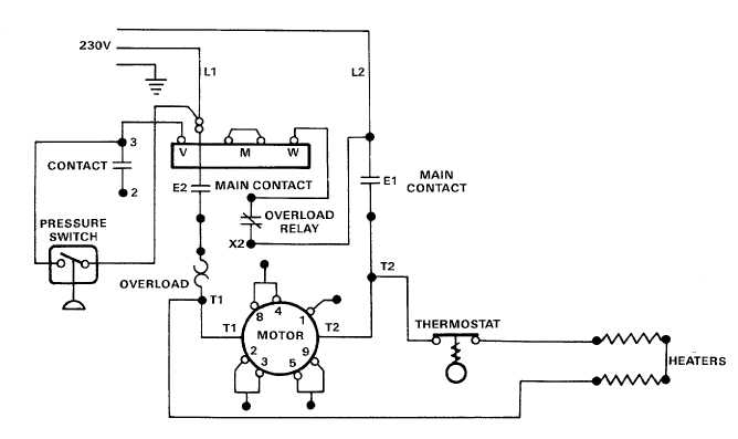 Electric Motor Controls Wiring Diagrams (115V)