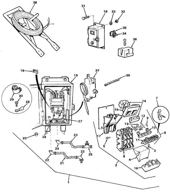 FIGURE 1. Electric motor starter, pressure switch