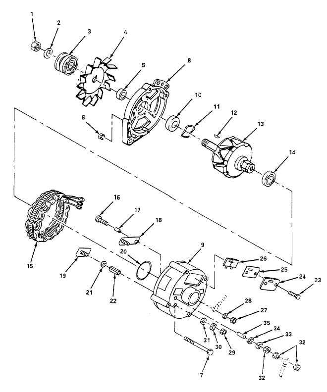 Figure 6-18. Alternator, Disassemble.