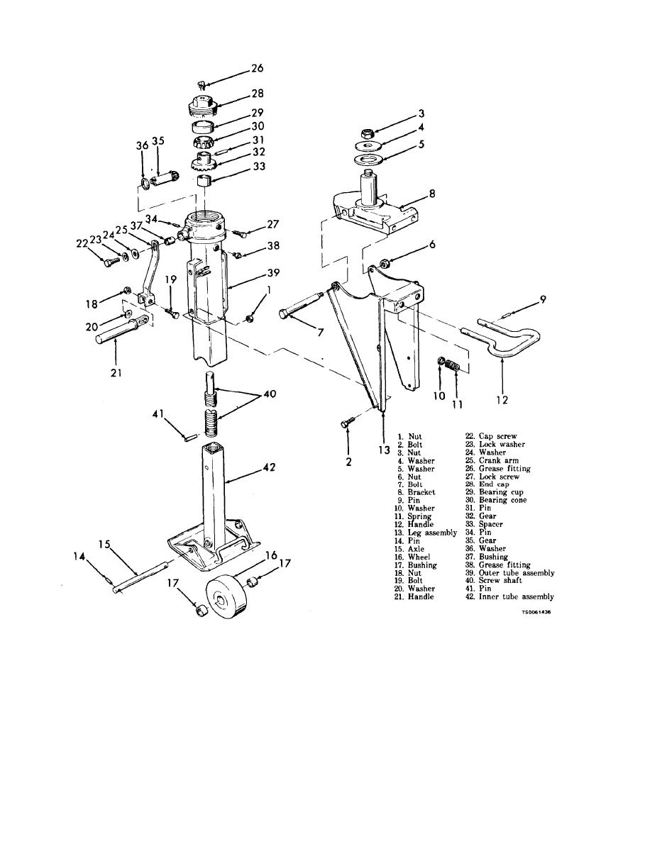 Figure 9-1. Landing gear, exploded view.
