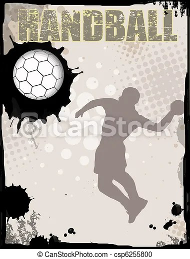 handball abstrakt hintergrund grunge