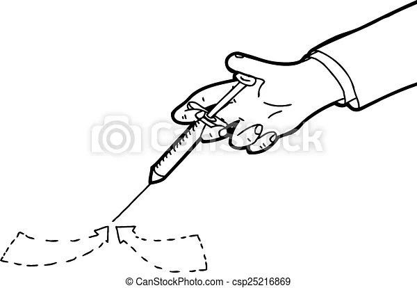 Blood sample outline cartoon. Outline of blood sample