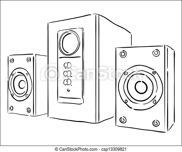 Computer speakers on a white background.