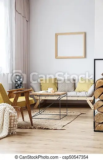 wood frame sofa designs modern wooden furniture decorative above cozy living room in bright loft csp50547354