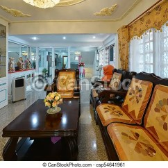 Chinese Living Room How To Decorate A Long Narrow With Fireplace On Side Wall Elegant Oriental Classic Vintage Interior Design Csp54641961