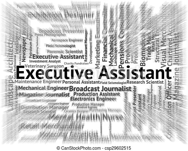 Executive assistant means senior manager and pa. Executive assistant indicating director general and job.