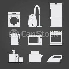 Home Kitchen Equipment Chalk Board Abstract Style And Icons Csp10920307