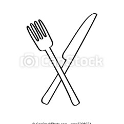 Kitchen Fork Remodeling Chattanooga Tn Knife And Cutlery Isolated Icon Vector Illustration Design Csp45398371