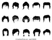 isolated men and women hair styling