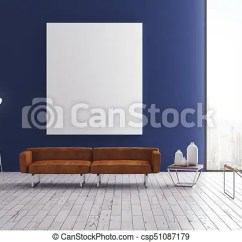 Blue Modern Living Room Country Colors With Poster Interior Csp51087179