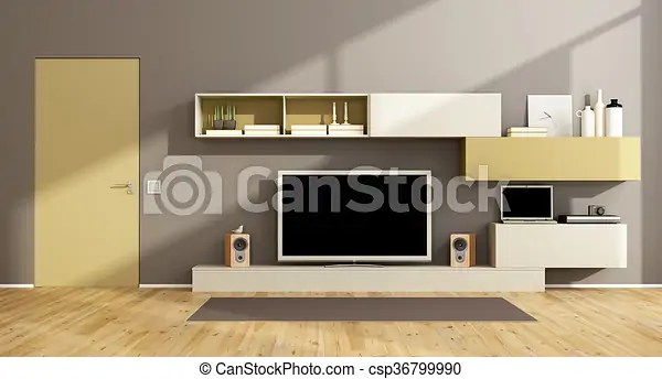 living room package with tv black leather sofa designs modern set wall unit csp36799990