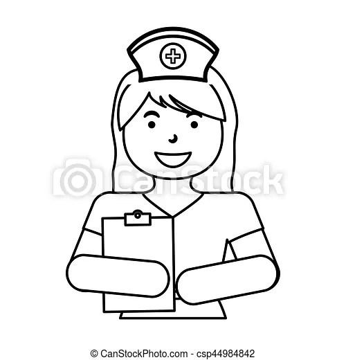 Nurse medical profession icon vector illustration graphic
