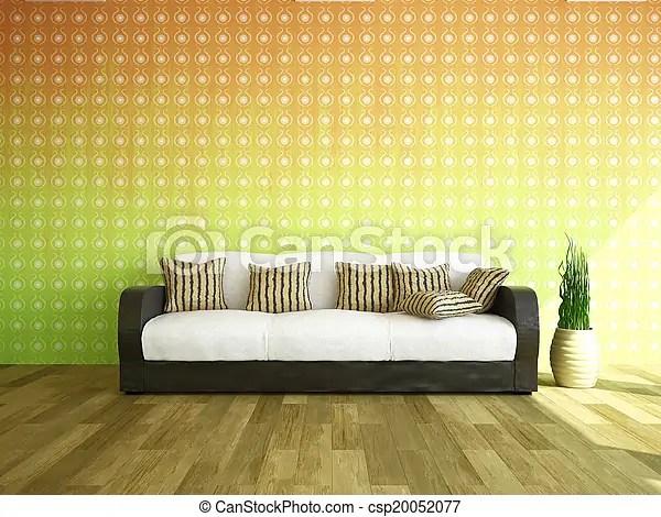 wall sofa bernhardt furniture near the and plants csp20052077