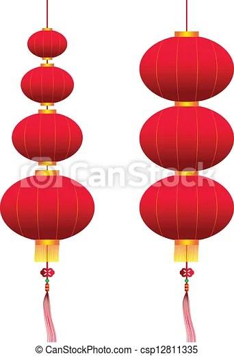 hanging lanterns vector clip