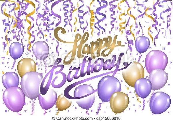 violet gold balloons happy birthday