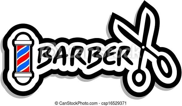 barber icon. creative design of